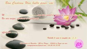 Bon cadeau - unebullepoursoi.fr