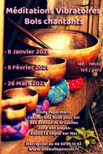 Méditations vibratoires bols chantants - www.unebullepoursoi.fr